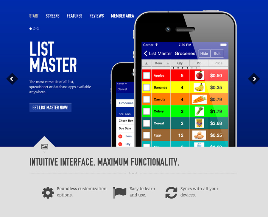List Master Website